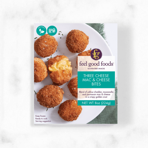 Feel Good Foods Gluten-Free Three Cheese Mac & Cheese Bites (FROZEN)