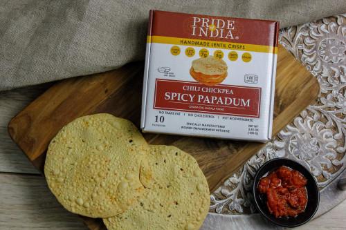 Pride of India Chili Chickpea (Spicy) Papadum Lentil Crisps