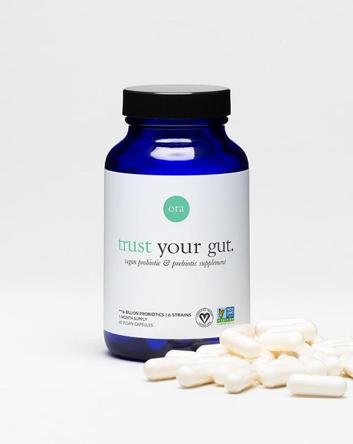 Ora Organic Probiotic Capsules Trust Your Gut