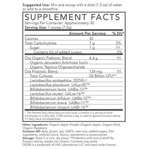 Ora Organic Apple-Raspberry Supplement Powder