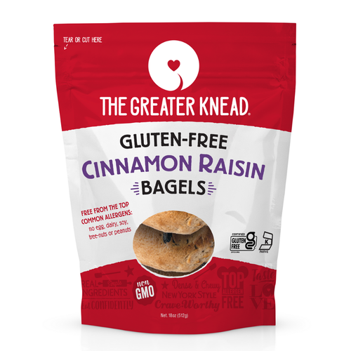 The Greater Knead Gluten-Free Cinnamon Raisin Bagels (FROZEN)