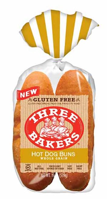 Three Bakers Whole Grain Hot Dog Buns FROZEN