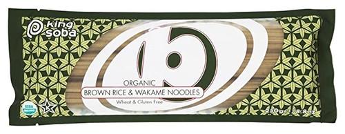 King Soba Organic Brown Rice & Wakame Noodles