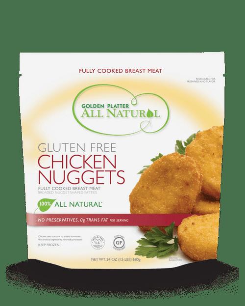 Golden Platter Gluten-Free Chicken Breast Nuggets 24 oz (FROZEN)