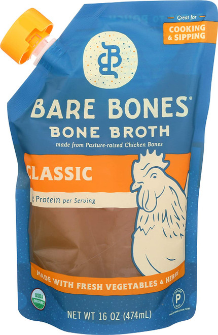 Bare Bones Chicken Bone Broth, Classic