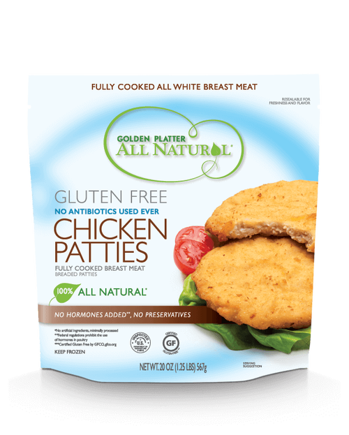 Golden Platter Gluten-Free Chicken Breast Patties, Antibiotic Free (FROZEN)
