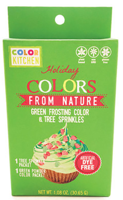 Color Kitchen Green Frosting Color  and  Holiday Sprinkles