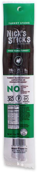 Nick's Sticks Free-Range Paleo Turkey Snack Sticks (2/Pack)