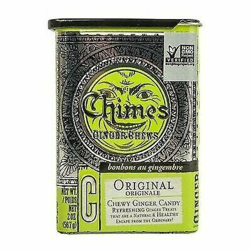 Chimes Gluten-Free Original Ginger Chews, 2 oz. tin