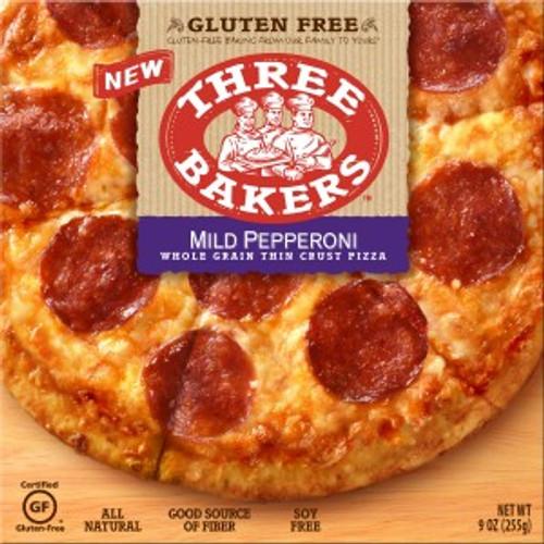 Three Bakers Mild Pepperoni Whole Grain Thin Crust Pizza