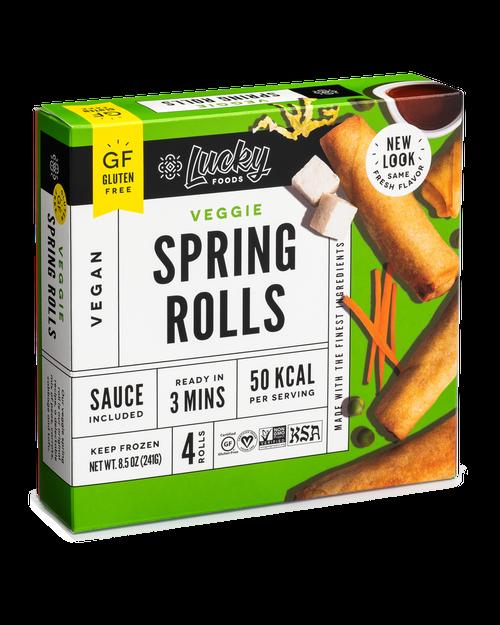 Lucky Foods Vegan Original Spring Rolls with Traditional Sauce (FROZEN)