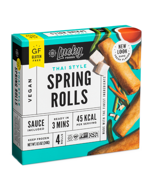 Lucky Foods Thai Style Spring Rolls with Sweet & Sour Sauce