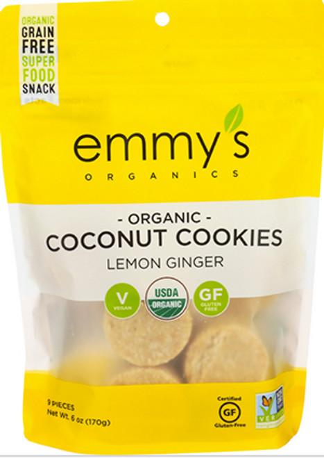 Emmy's Organics Vegan Lemon Ginger Coconut Cookies