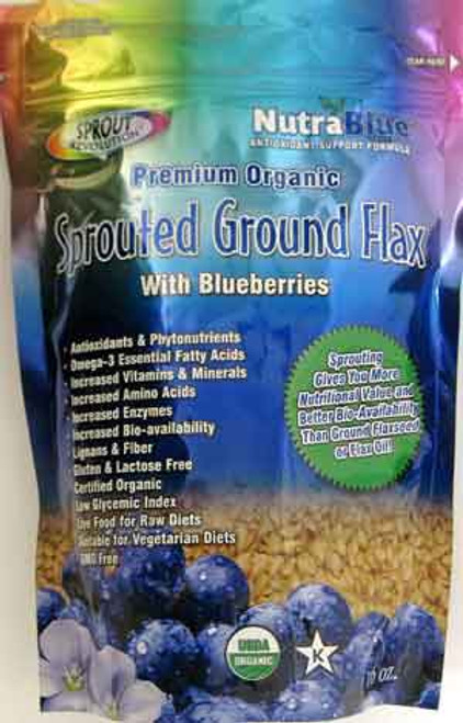 Sprout Revolution Sprouted Ground Golden Flax with Blueberries