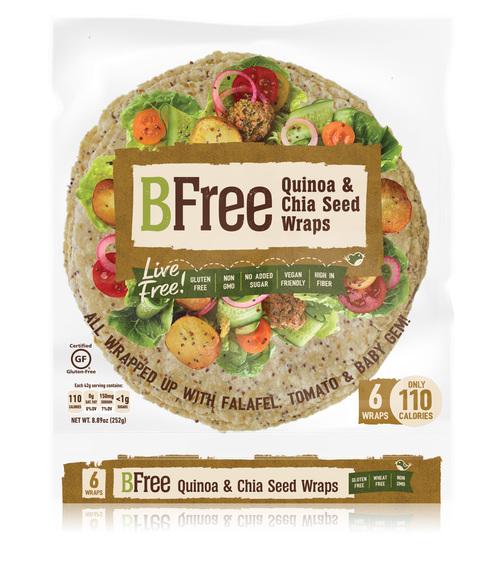 BFree Foods  Quinoa & Chia Wraps (6/pk) FROZEN