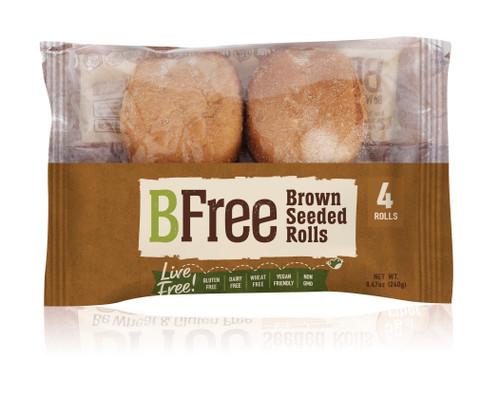 BFree Foods Vegan Seeded Brown Rolls (FROZEN)