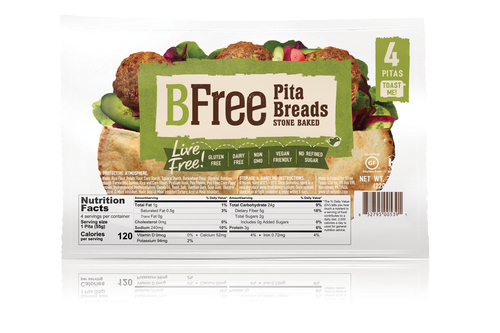 BFree Foods Pita Breads FROZEN
