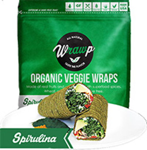Wrawp Spirulina Flat Bread Wraps