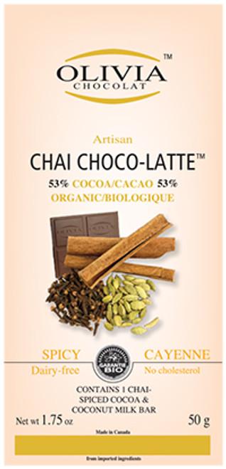 Olivia Chocolat  Raw Chai Chocolate Bar