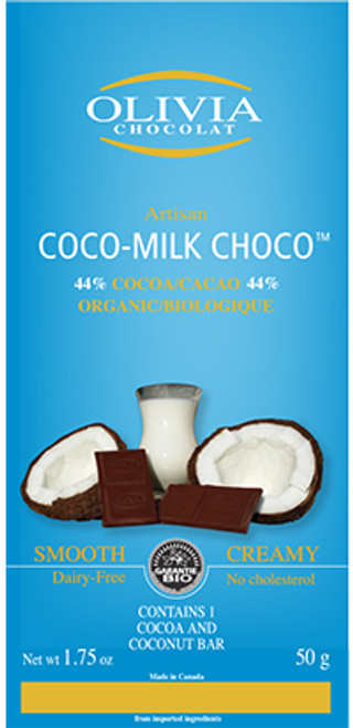 Olivia Chocolat Raw Coco-Milk Chocolate Bar