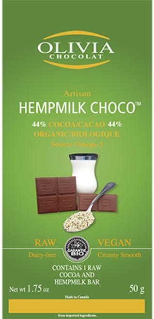 Olivia Chocolat Raw Hempmilk Chocolate Bar
