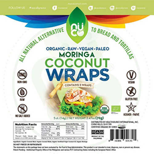 Nu Coconut Gluten-Free Moringa Coconut Wraps