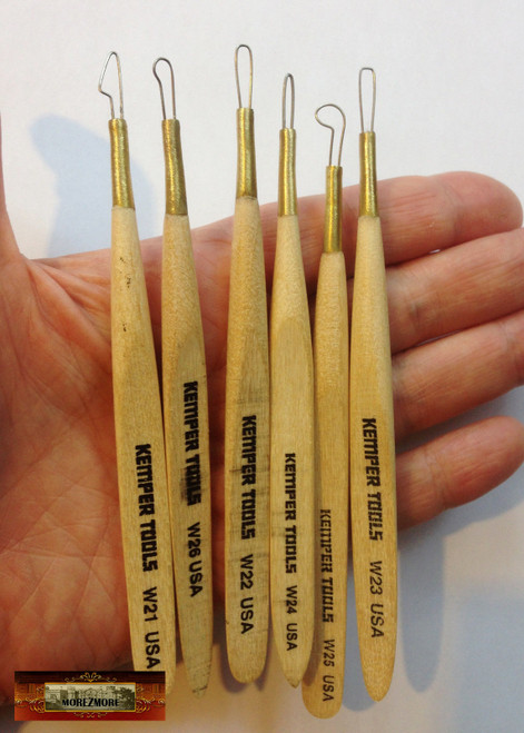 M00575-A MOREZMORE Clay Scraper Rake Pottery Sculpting Modeling Tool with Teeth