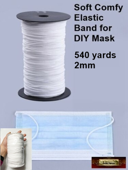 M01420 330 Elastic Cord Band Diy Face Mouth Mask Soft Comfy Round