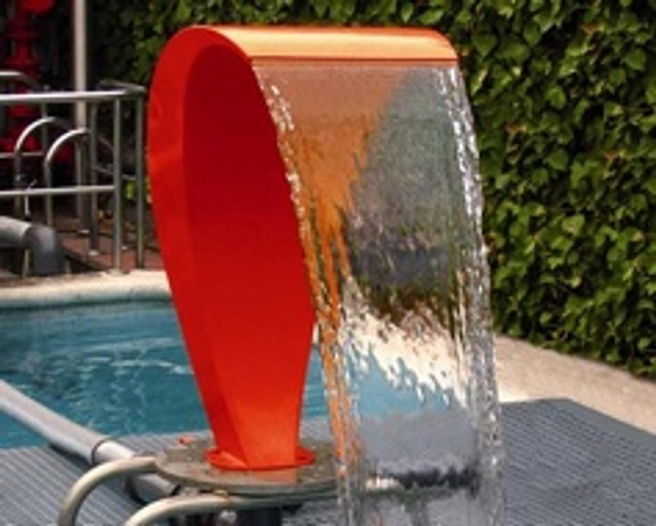 Swan Curtain 450 Fountain with Orange Ral (34389)