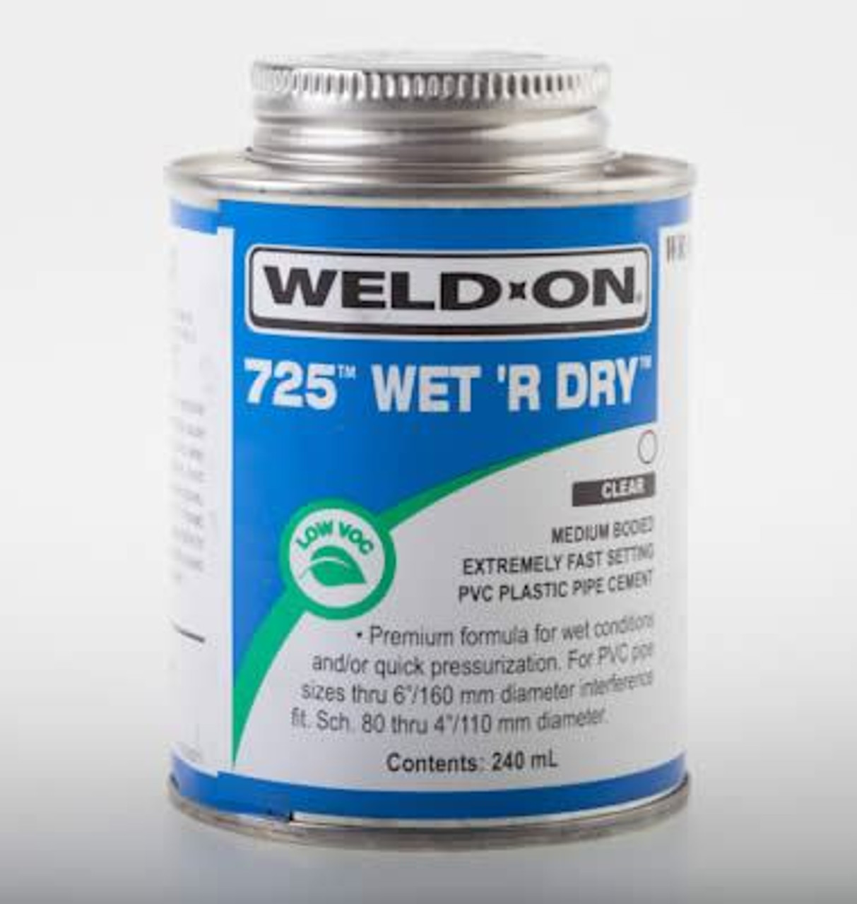 Wet R Dry 250ml ABS PVC Pipe Cement