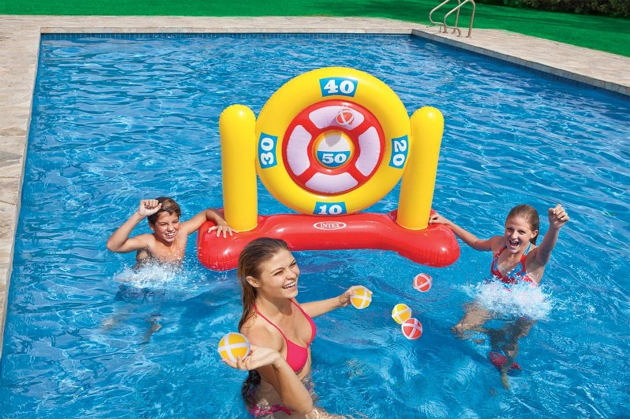 Intex Inflatable Swimming Pool Ball Darts Game 56509
