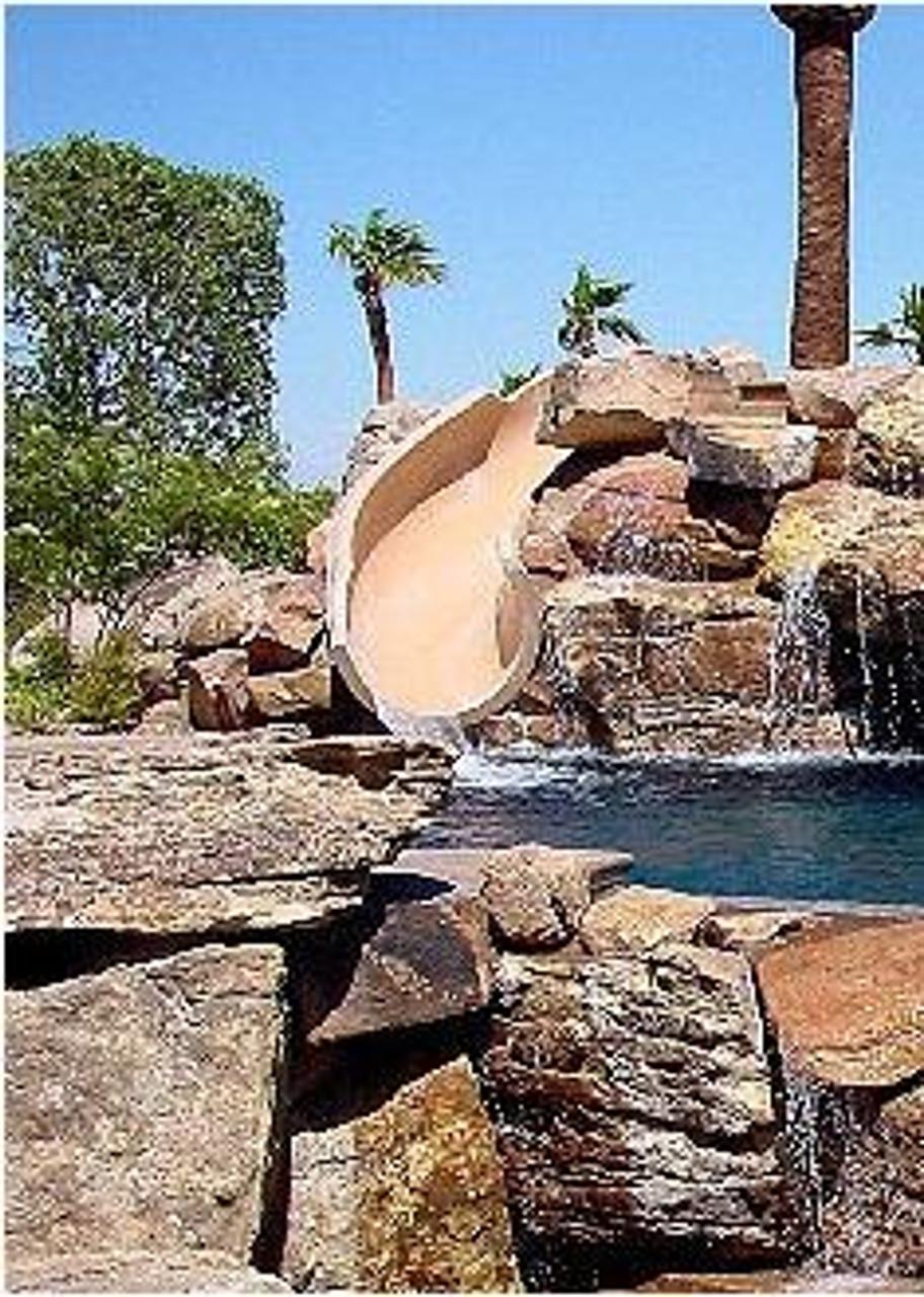 SR Smith BigRide Swimming Pool Landscape Slide
