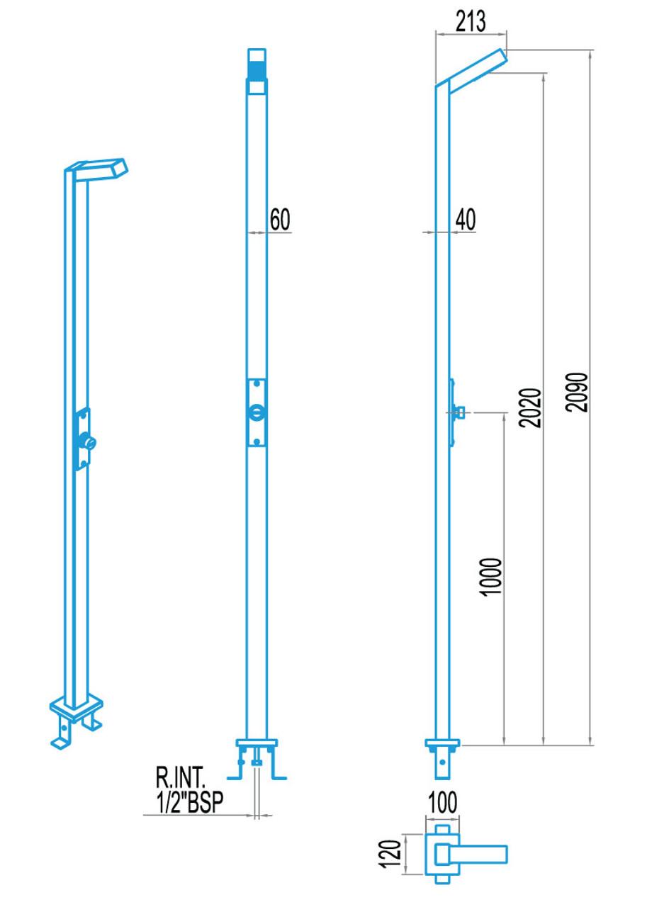 Single Head Rectangular Timer Valve Swimming Pool Shower Dimensions