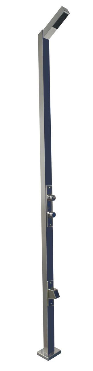 Single Head Rectangular Pool Shower with Double Valves & Footwash (59777)