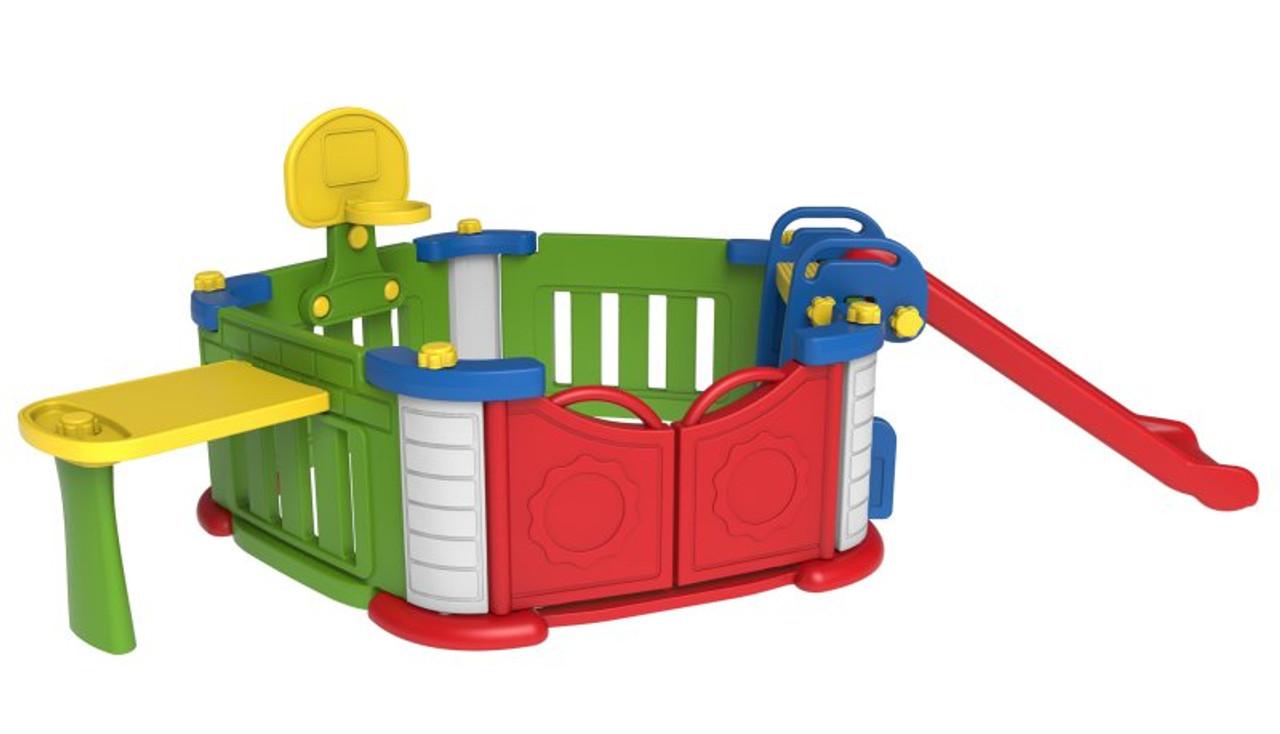 Sunshine Modular Baby Playpen Triple Fun Slide & Basketball Play House Centre (TB512)