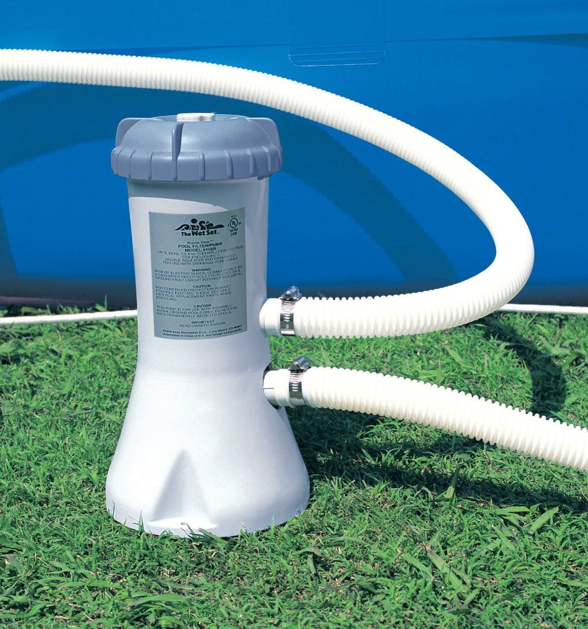 Intex 1000 Gallon Swimming Pool Cartridge Filter Pump System (28638)