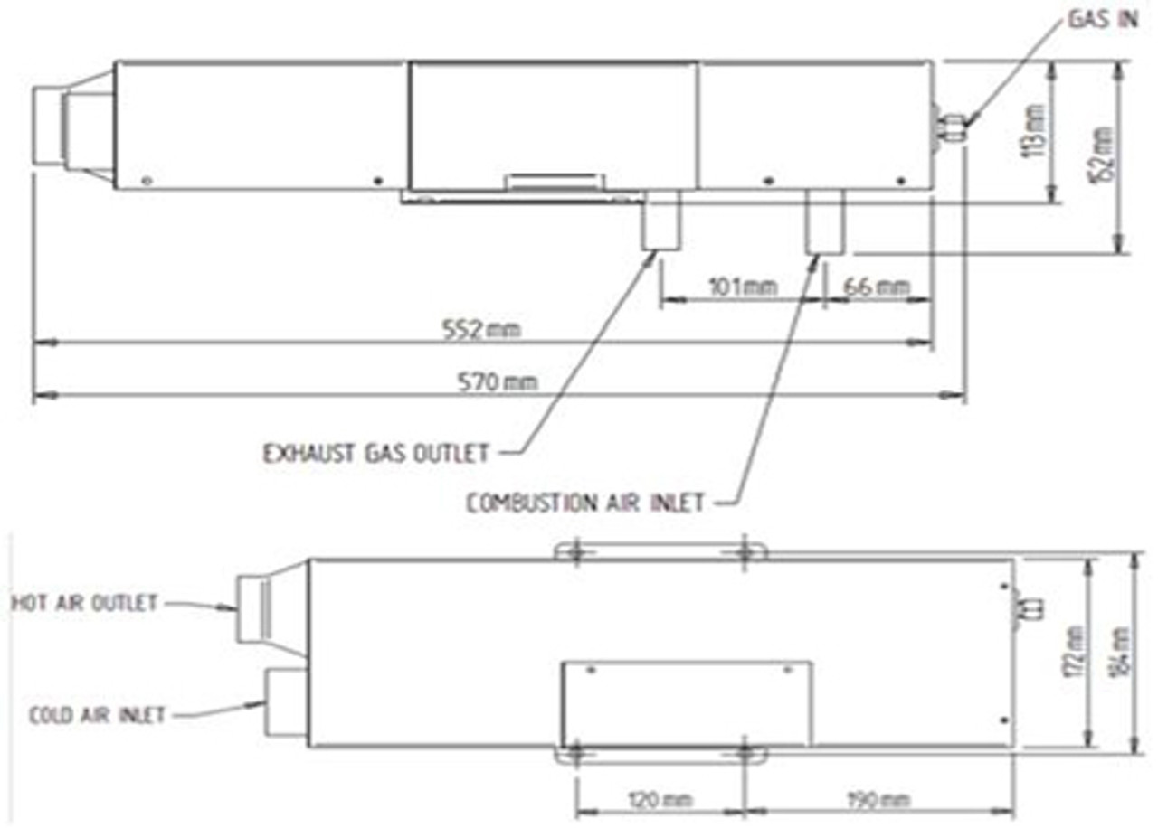 Propex HS2000E LPG Electric Heater