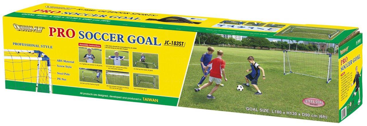 6ft steel A frame football goal posts handy carry box