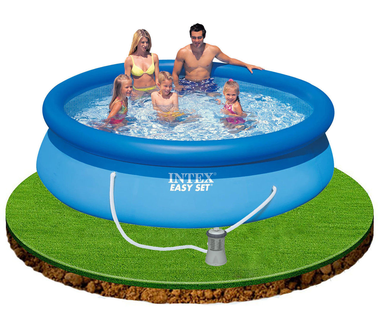 Intex 10 X 30 Above Ground Swimming Pool With Filter Pump