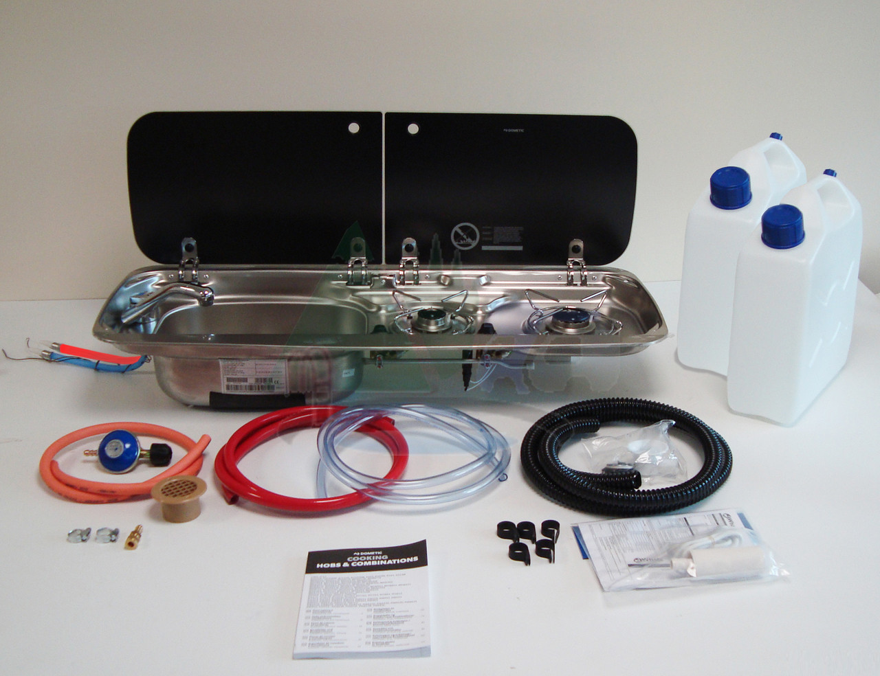 Dometic Smev 9222 Motorhome Conversion Kit 1 Hob and Left Hand Sink (*Image shows kit with Gaz Regulator and Mixer tap options)