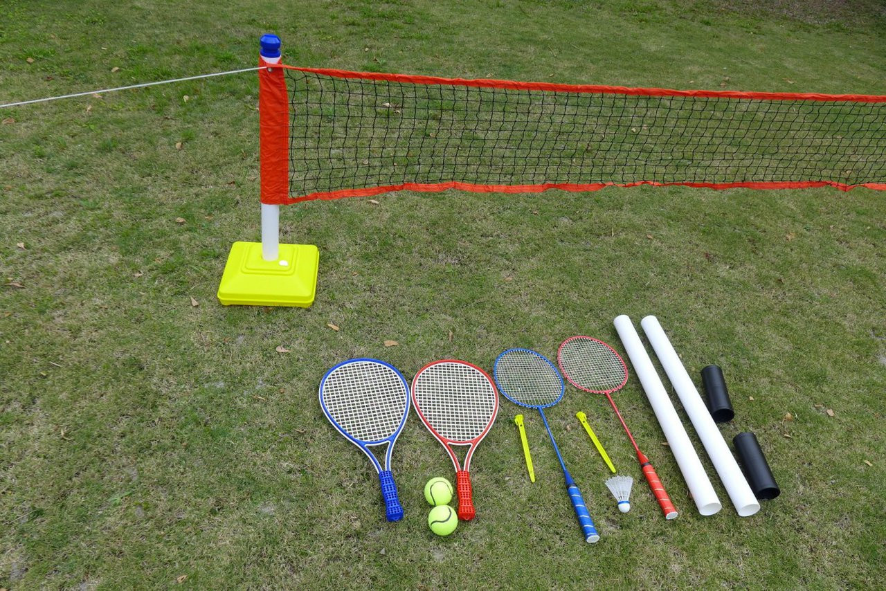 2 in1 Childrens Tennis Badminton Training Set Kids Trainer 5413501072288