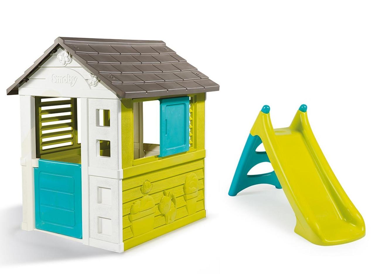 Pretty Maison Kid's Garden Playhouse & XS Slide