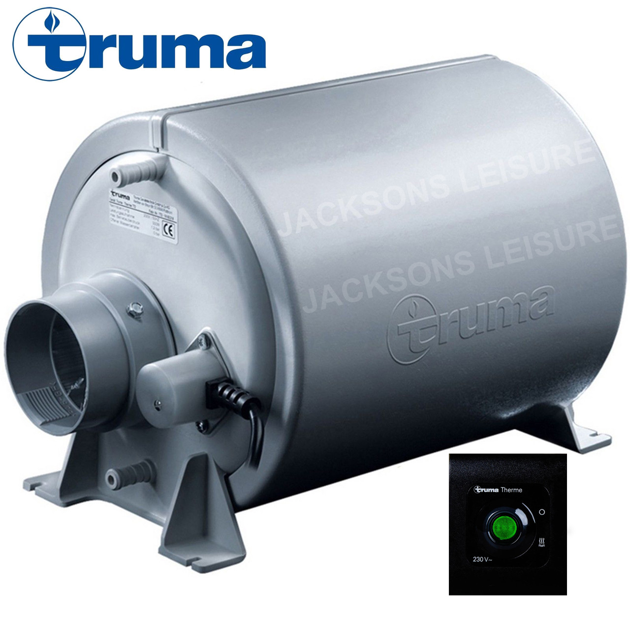 A photo of the Truma Therme TT2 water heater and control panel
