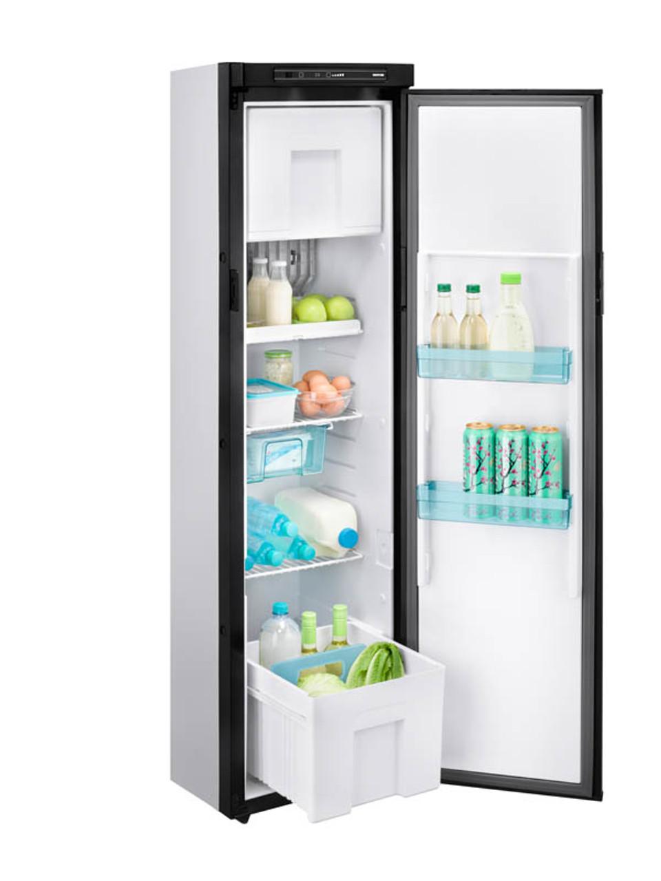 Thetford N3142 3 Way Caravan Motorhome Campervan Absorption Fridge Freezer open with drawer out
