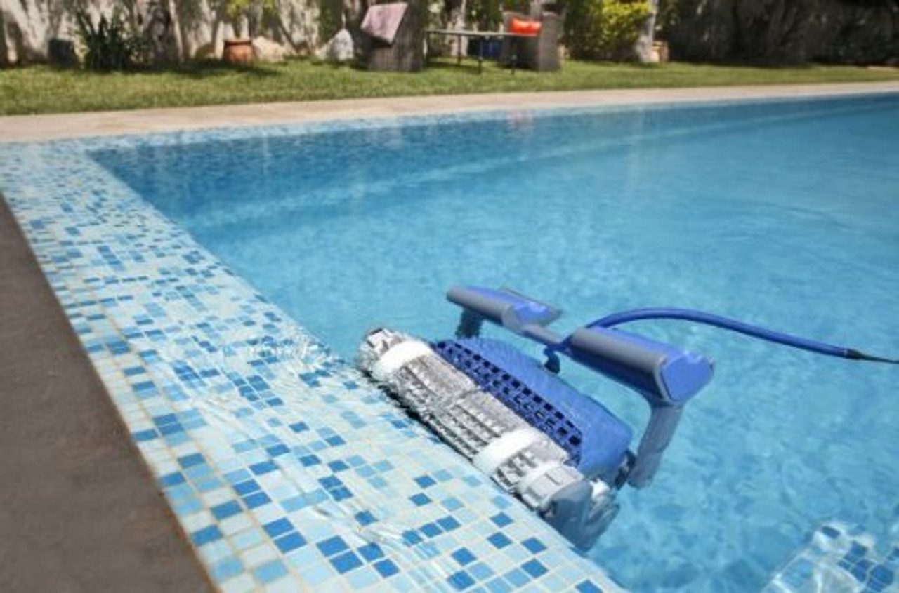 Dolphin Supreme M400 Pro Electronic Pool cleaner on Wall