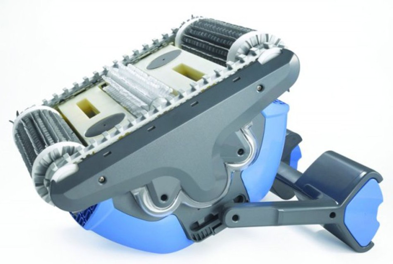 Underside of Dolphin Supreme M400 Pro Robotic swimming pool cleaner
