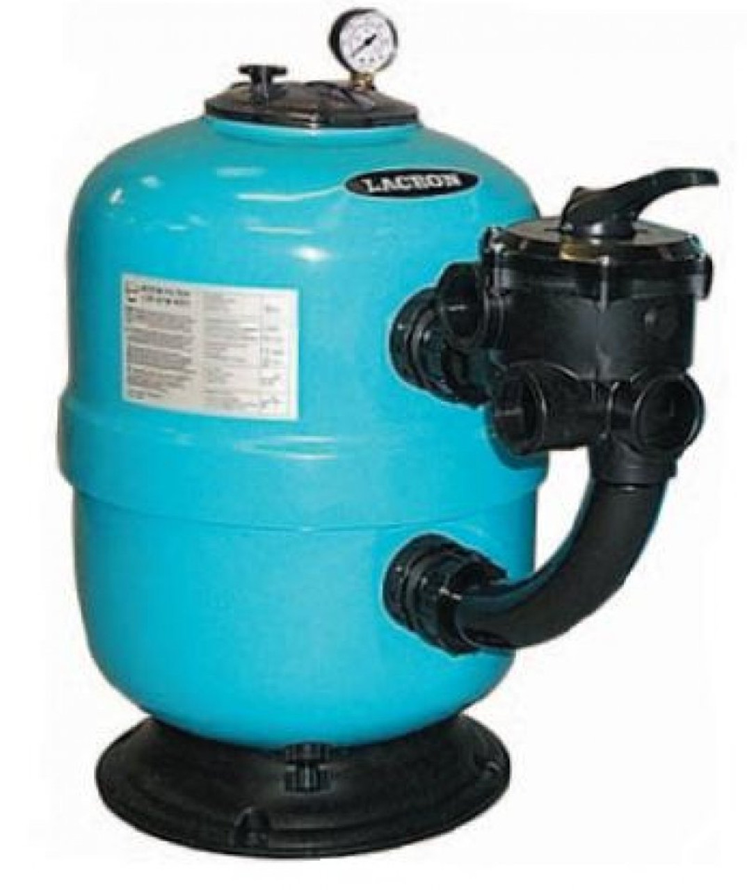 Lacron swimming pool sand filter side mount