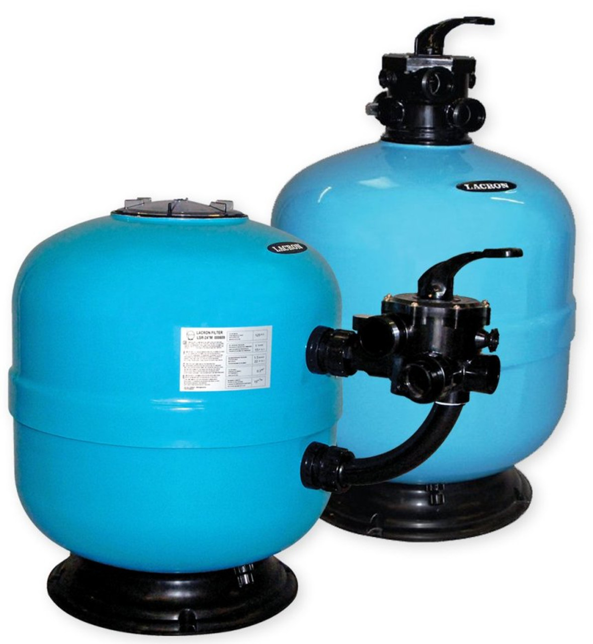 Lacron swimming pool sand filter top and side mount