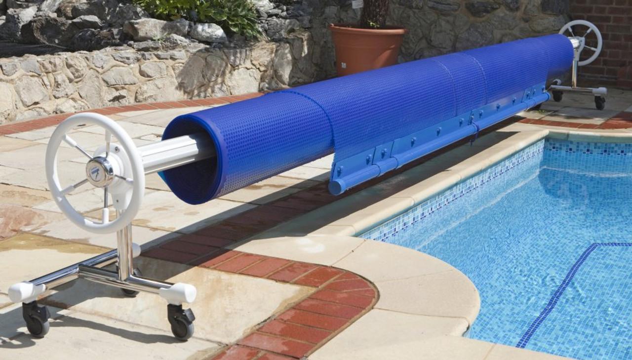 Monaco Premier mobile swimming pool reel system with optional castors