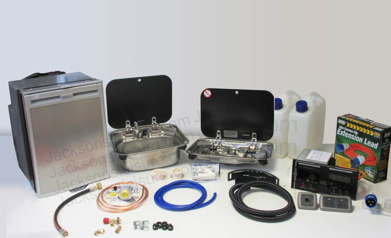 Dometic Smev 8005 Sink & Smev 8002 Campervan Caravan Motorhome Conversion Kit with Cold Tap and Bulkhead Regulator